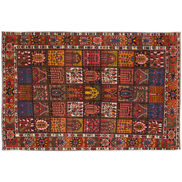 """Vintage Hand-Knotted Persian Rug - 6'9"""" X 10'5"""" - Image 1 of 4"""