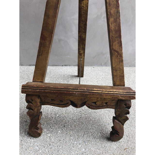 Transitional Antique Gold Easel Picture Stand For Sale - Image 3 of 8