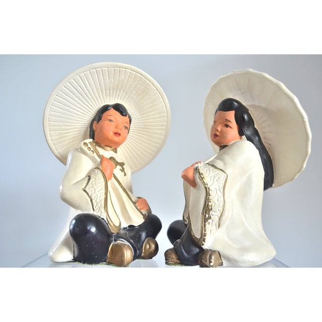 Asian Figurines—Pair - Image 3 of 5