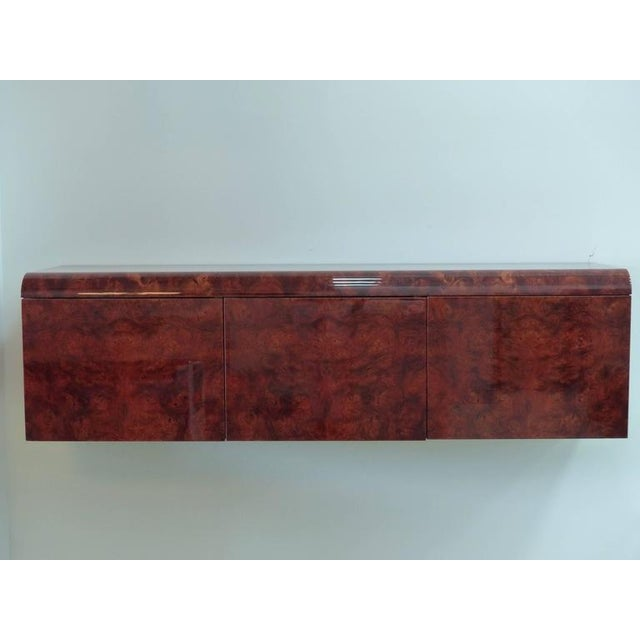 Brown Leon Rosen Pace Hanging Burl-Wood Credenza For Sale - Image 8 of 11