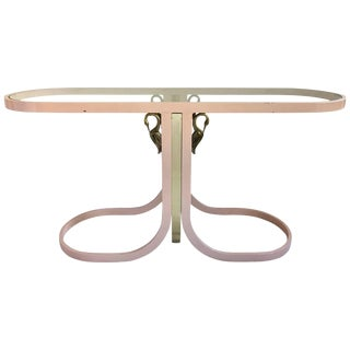 Design Institute America Modern Lacquered Swan Console Table For Sale