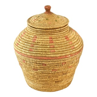 Native American Hand Woven Lidded Jar