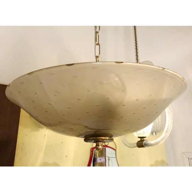 Italian Bollicine Pendant / Flush Mount by Barovier E Toso For Sale - Image 3 of 6