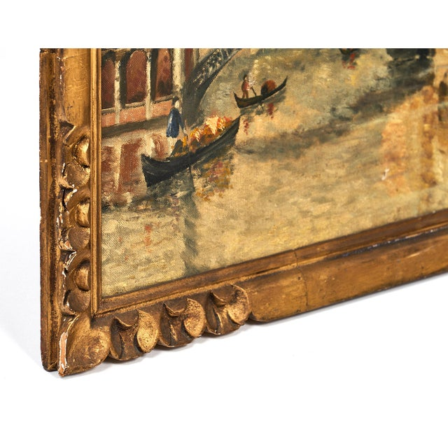 Antique Oil on Canvas of Venice For Sale - Image 9 of 10