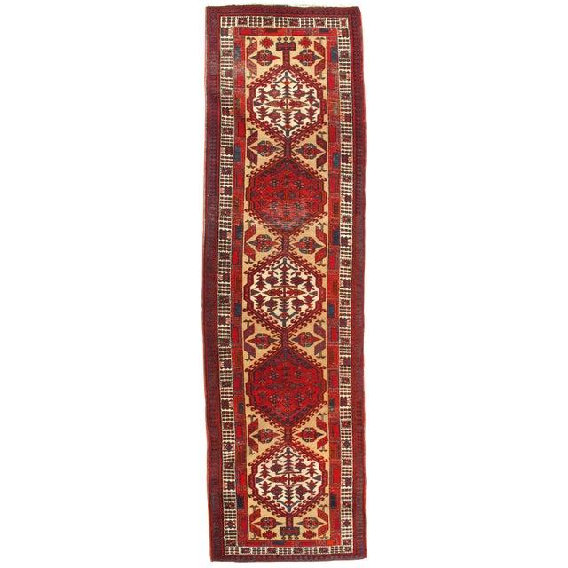 """Pasargad N Y Antique Persian Serab Wool Runner Rug - 3'2"""" X 11'3"""" For Sale"""