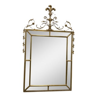 Neoclassical Style Gilt Wood Mirror For Sale