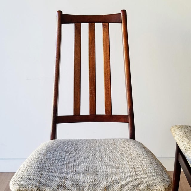 Danish Mid-Century Modern High Back Dining Chairs - Set of 8 For Sale - Image 10 of 13
