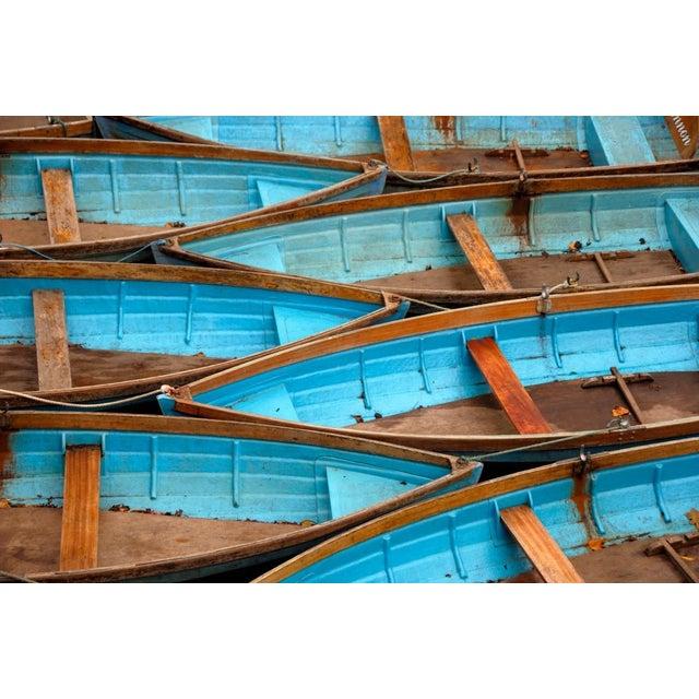 "Eugene Fang ""Blue Boats"" Framed Photo Print - Image 2 of 2"
