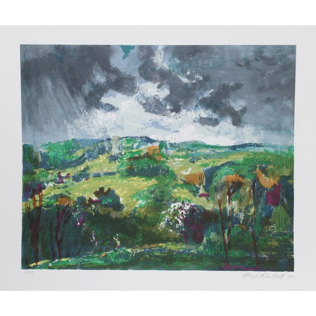 Modern Lloyd Lozes Goff, Woodstock, Lithograph For Sale - Image 3 of 3