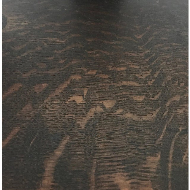 Mid 19th Century Late 19th. C English Carved Tiger Oak Corner or Side Chair For Sale - Image 5 of 5