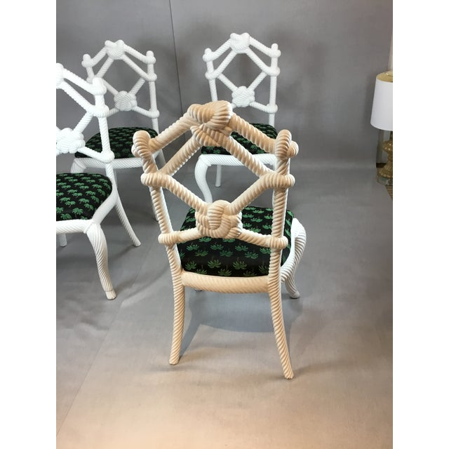 Contemporary Designer Rope Chairs - Set of 4 For Sale - Image 3 of 5