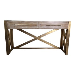 Hooker Furniture Large Two Drawer Console Table For Sale