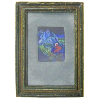 Miniature Landscape With Surreal Figure For Sale