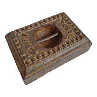 Antique India Iron Scale Weight For Sale