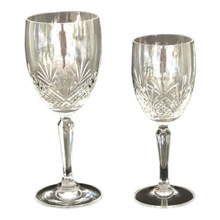 Vintage Oneida Downing Street Crystal Stemware - 22 Pieces For Sale