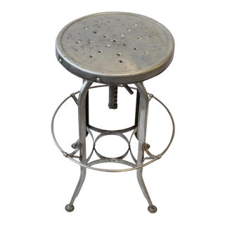 1930s Original American Industrial Toledo Stool For Sale