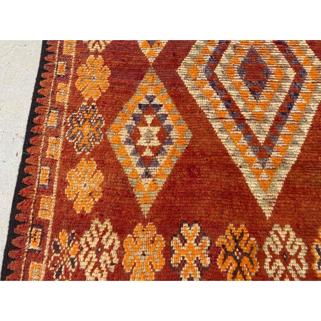 Moroccan Vintage Hand-woven Marrakech Tribal Rug, circa 1960 For Sale - Image 10 of 13