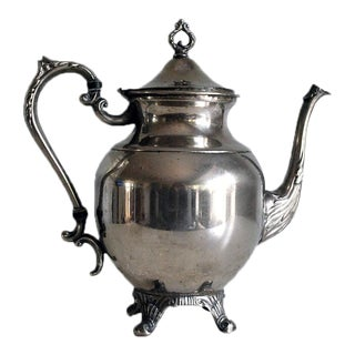 Vintage English Silver Plate Coffee Pot / Teapot For Sale