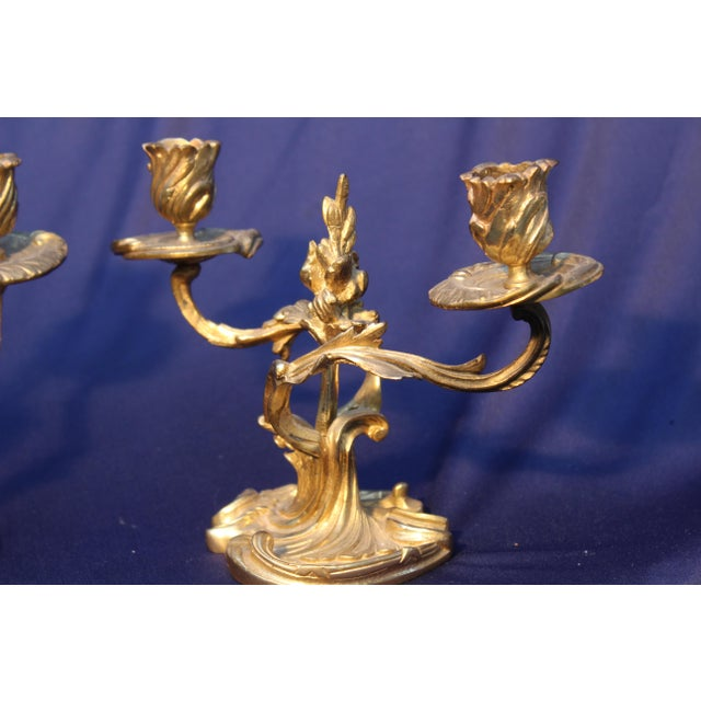 Pr. Late 19th C. Louis XV Style Candelabras. This pair would bring charm to any room in your home.