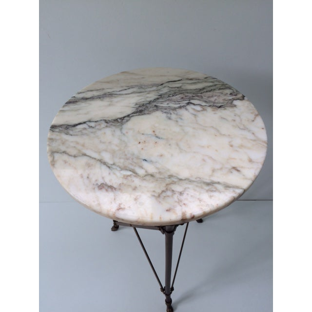 French Directoire Gueridon Table With Marble Top - Image 6 of 9