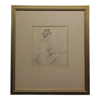 Pierre Auguste Renoir -Study of Voluptuous Nude Female -Etching -Signed For Sale