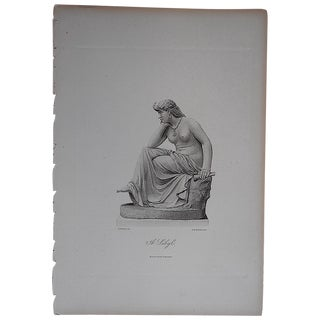"""Antique Engraving """"The Sibyl"""" Folio Size For Sale"""