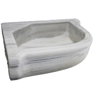 Antique Marble Corner Sink | Reclaimed Marble Basin For Sale