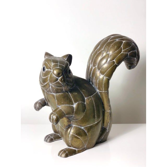 Sergio Bustamante Large Signed Sergio Bustamante Brass Squirrel Sculpture, 1970's For Sale - Image 4 of 10