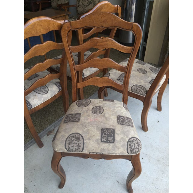 Ethan Allen Country French Dining Chairs - Set of 4 - Image 4 of 6