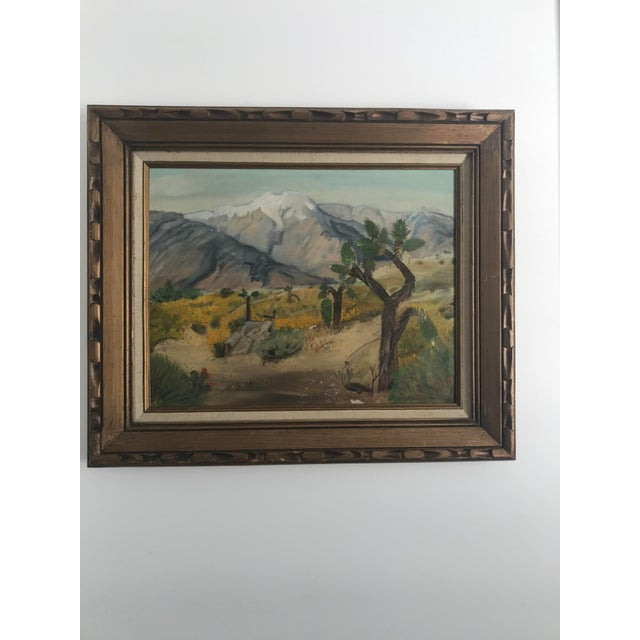 Green Vintage Plein Aire Signed Oil Painting on Canvas For Sale - Image 8 of 8