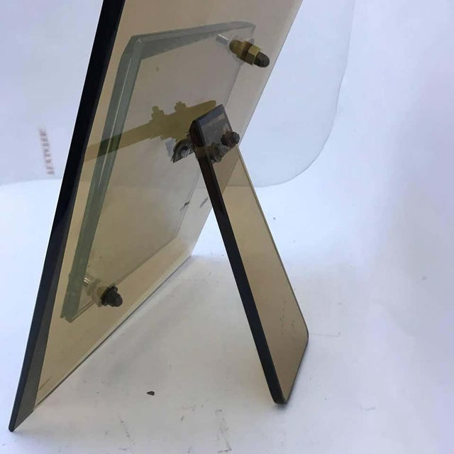 Picture frame made in Italy in the 1970s by Cristal Art, good conditions, small chipping in the glass not visible on photos