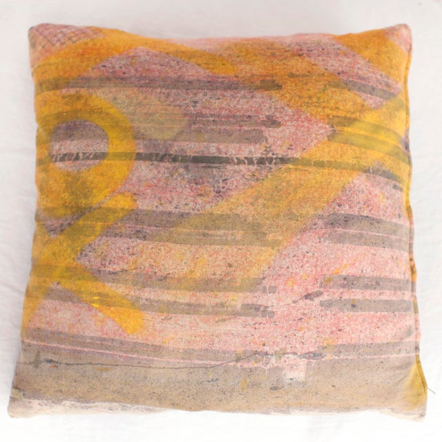 ABC Carpet and Home Graffiti Pillow For Sale - Image 5 of 7