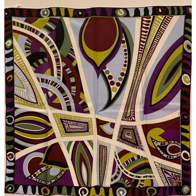 Pucci Classic Psychedelic Silk Scarf For Sale In Greensboro - Image 6 of 6