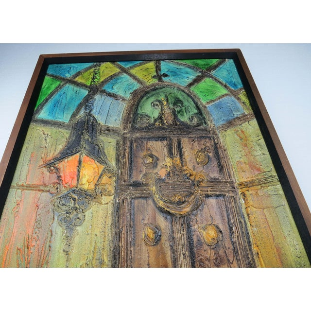 Mid 20th Century Original Mid-Century Gothic Painting on Board by Van Hoople For Sale - Image 5 of 13