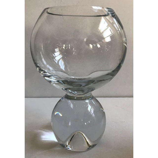 Contemporary Glass Ball Footed Vase - Image 8 of 8