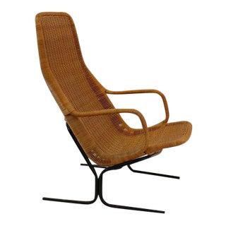 Dirk van Sliedrecht 514 Wicker Chair for Rohé Noordwolde For Sale