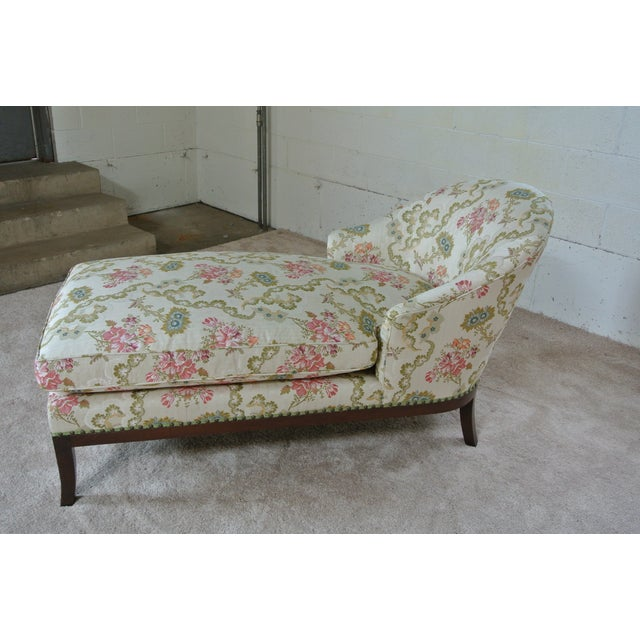 Newly restored vintage chaise lounge will look beautiful in any room. Chaise has been re-upholstered in a stunning...