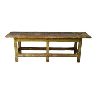 Vintage Colonial Painted Bench For Sale