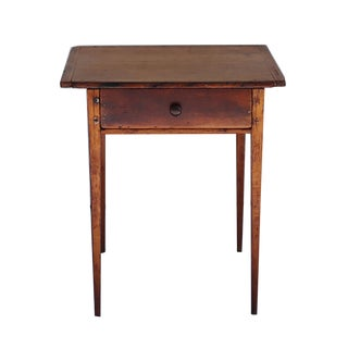 18th C. Rare Cherry and Southern Yellow Pine Side Table C. 1770-1790