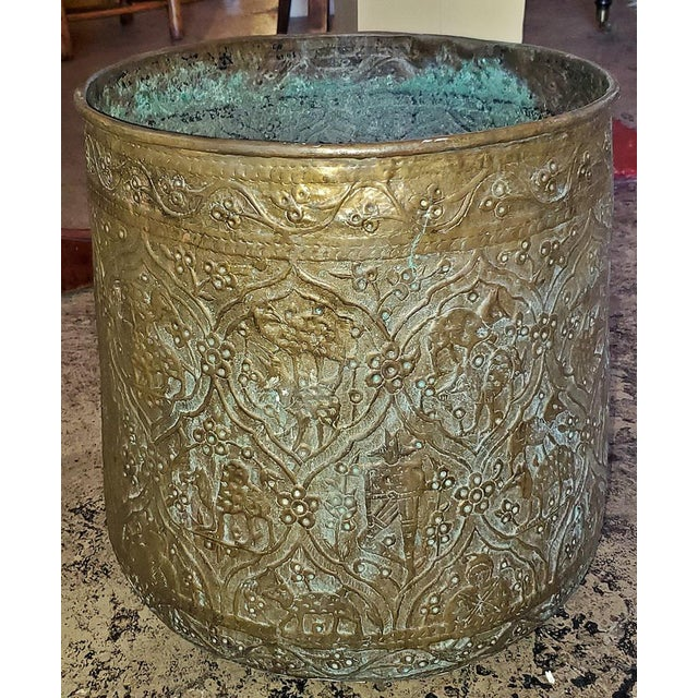 18th Century Ornate Middle Eastern Bronze Bin For Sale - Image 13 of 13