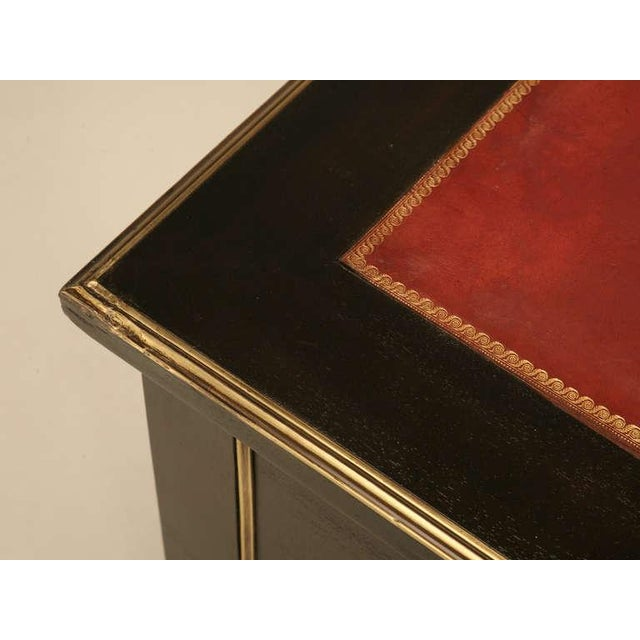 French Ebonized Napoleon III Desk For Sale In Chicago - Image 6 of 10
