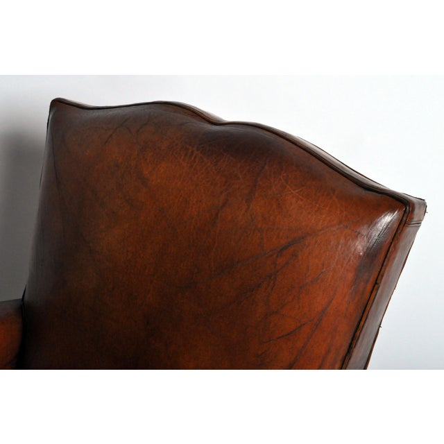 Art Deco Leather Club Chair - Image 8 of 11