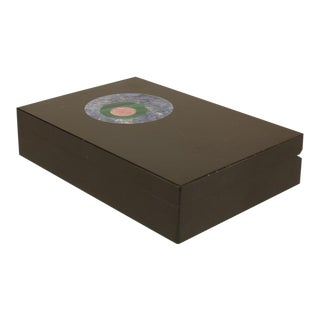 Italian Modernist Inlaid Marble Box For Sale