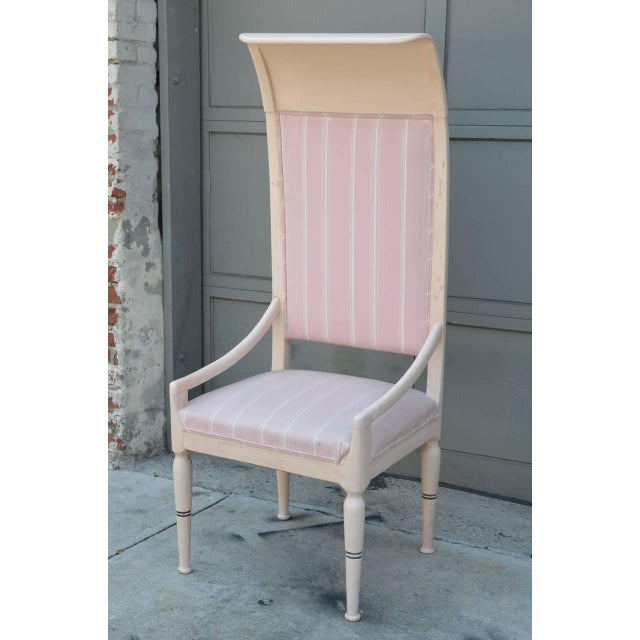 1900s Whimsical Viennese Secessionist High Back Chair For Sale - Image 5 of 6