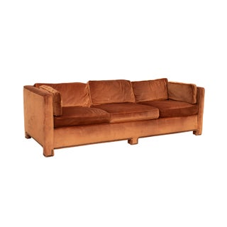 Parsons Sofa in Original Burnt Orange Velvet Preview