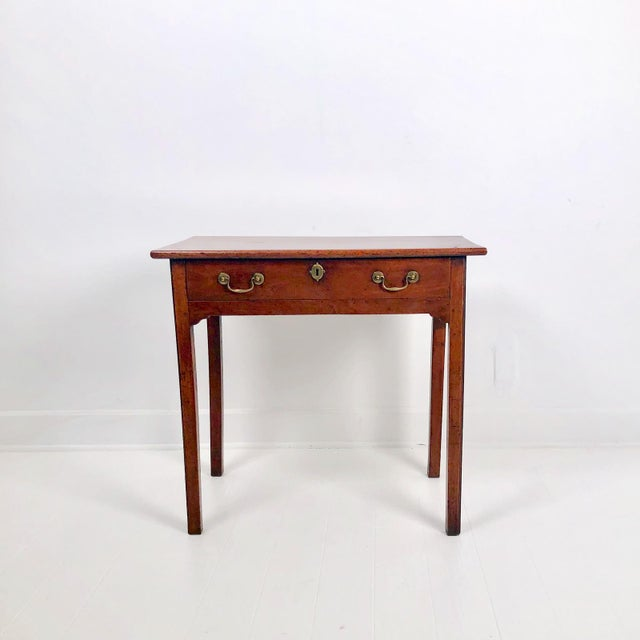 A late 18th Century English mahogany Chippendale one drawer table, circa 1780.