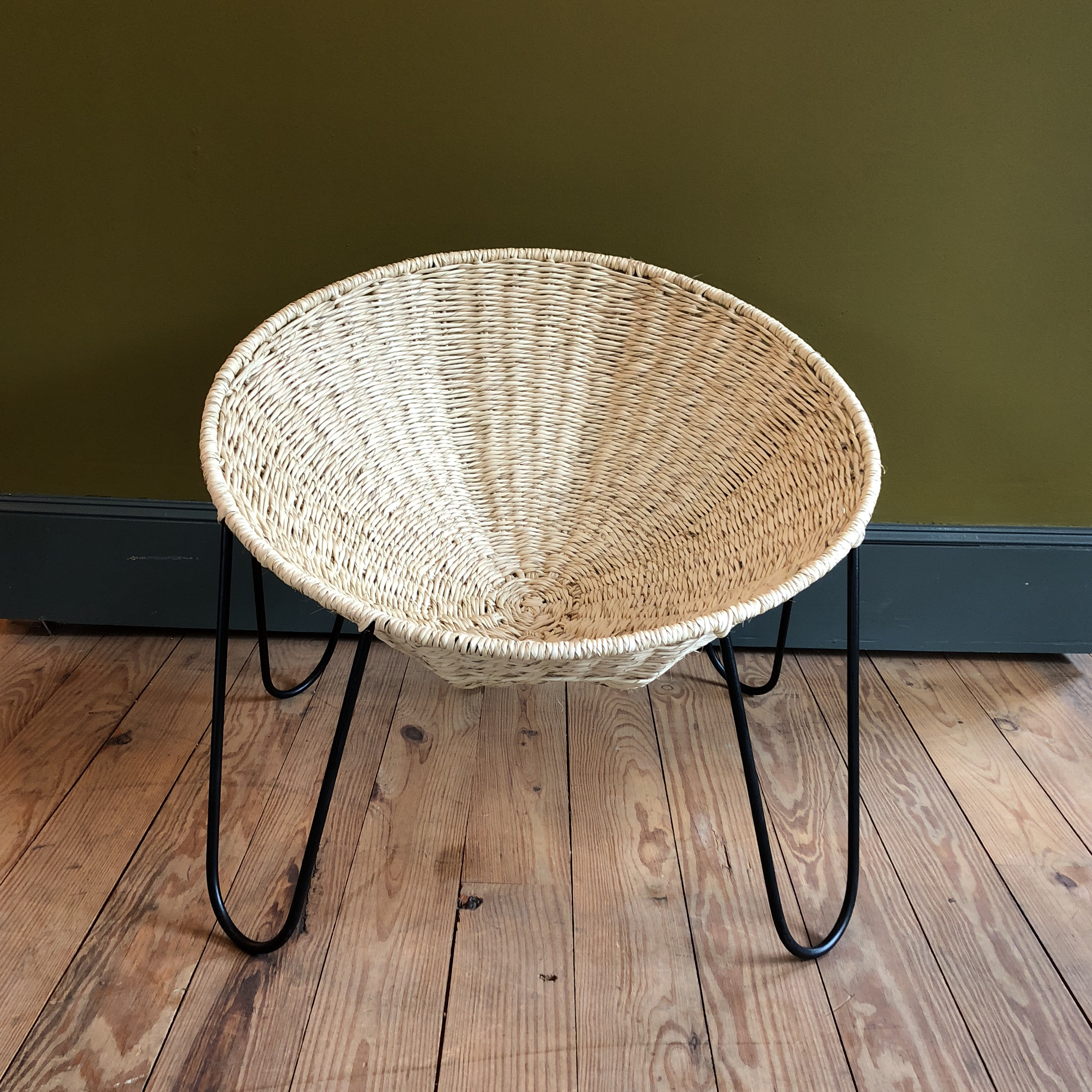 woven metal furniture. Mexa Woven Palm Leaf And Metal Circle Lounge Chairs - A Pair Image 2 Of Furniture