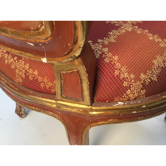 Metal 19th Century Venetian Louis XV Style Painted and Gilt Armchairs- A Pair For Sale - Image 7 of 13