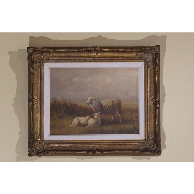 """""""Ewe and Pair of Lambs"""" Painting - Image 2 of 9"""