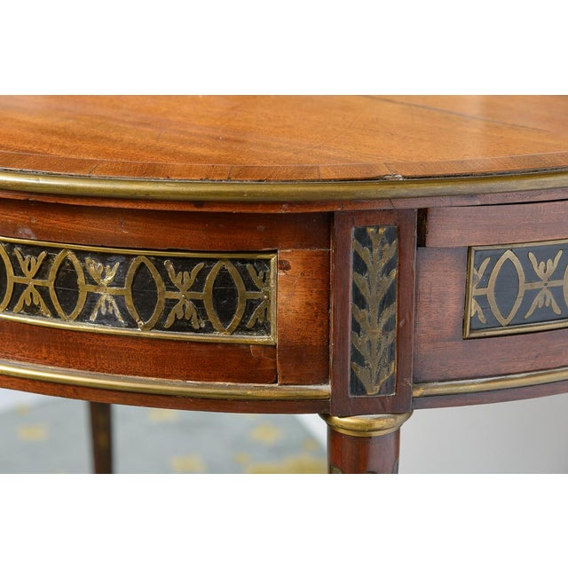 Traditional Swiss Walnut Center Table For Sale - Image 3 of 10